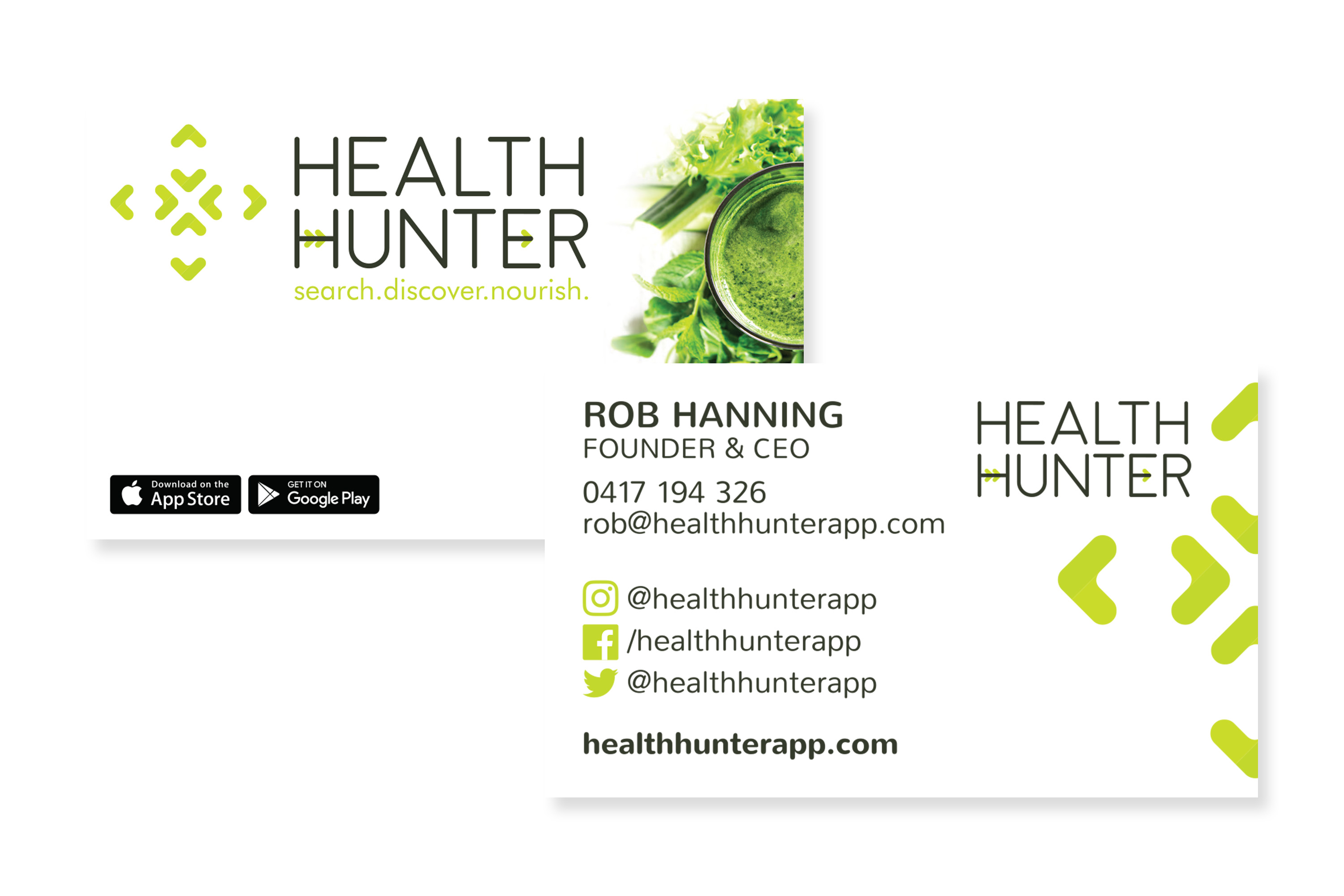 Health Hunter App – Maja Creative